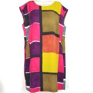 Loft Color Block Sheath Dress Sz 12